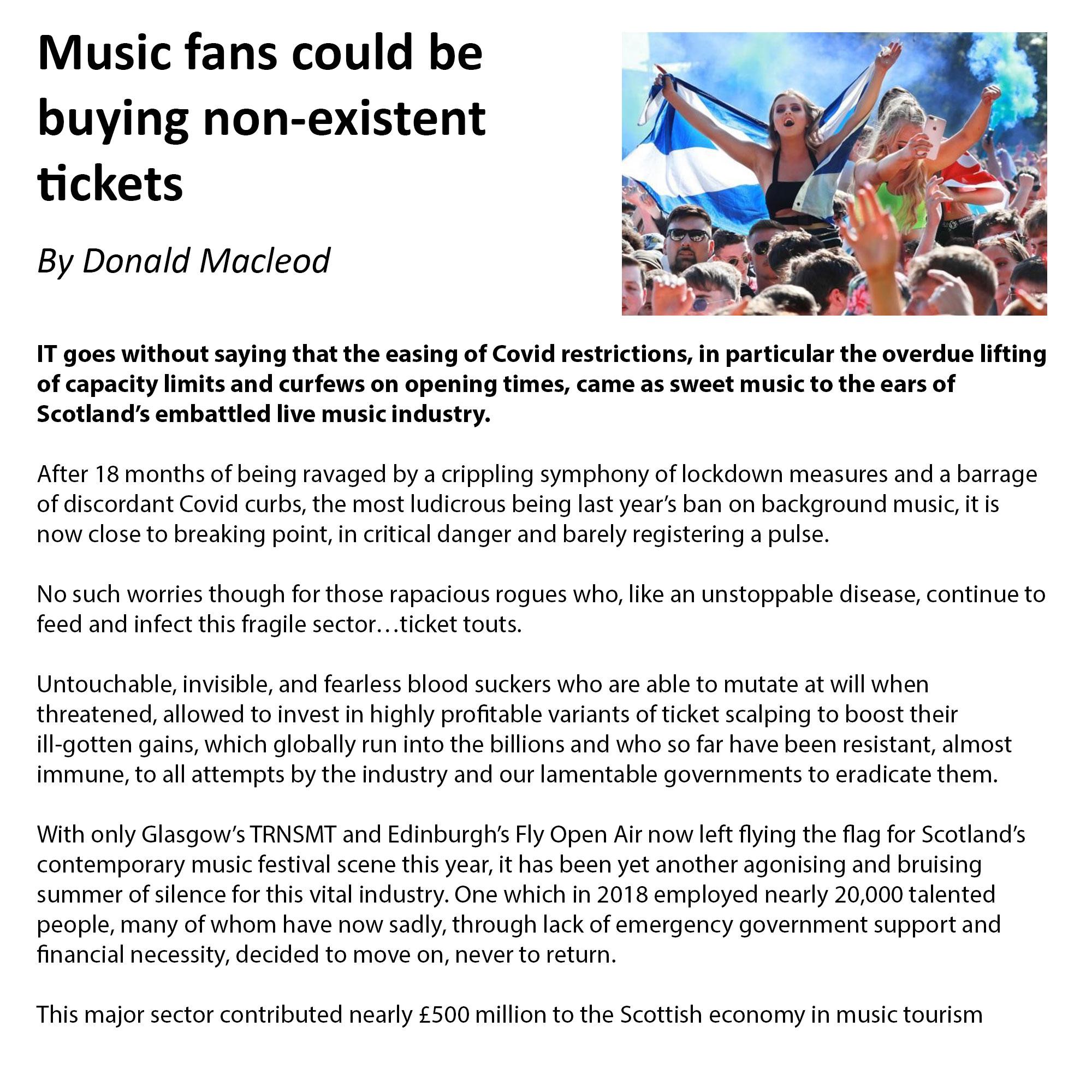 Donald Macleod The Herald Scotland